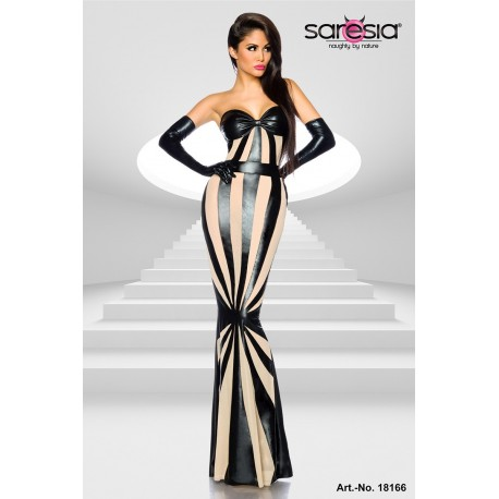 Rochie unga mulata aspect ud plasa de club Wetlook
