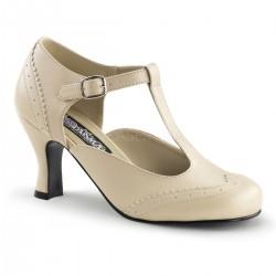 Pantofi cu toc mic retro pin up piele FLAPPER 26
