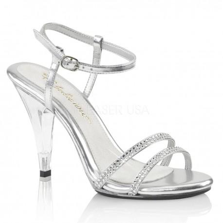 Sandale cu toc mediu concurs comode de mireasa CARESS 416