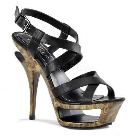 Sandale DELUXE 636 Piele