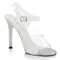Sandale transparente concurs fitness toc mediu GALA 08 MG