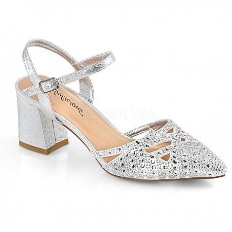 Pantofi de mireasa de nunta cu toc gros FAYE 06
