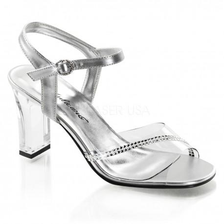 Sandale transparente de mireasa concurs fitness ROMANCE 308 R
