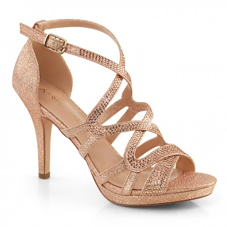 Sandale de mireasa comode elegante cu toc mic DAPHNE