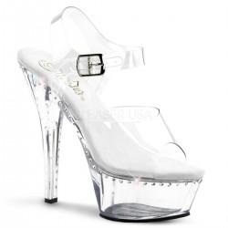 Sandale KISS 208 LS de mireasa cu toc mediu comode silicon pleaser
