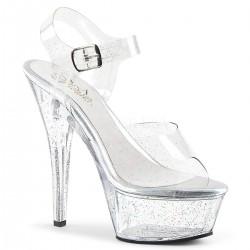 Sandale KISS 208 MMG de mireasa cu toc mediu comode silicon pleaser