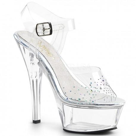 Sandale KISS 208 SD de mireasacu toc mediu comode silicon pleaser