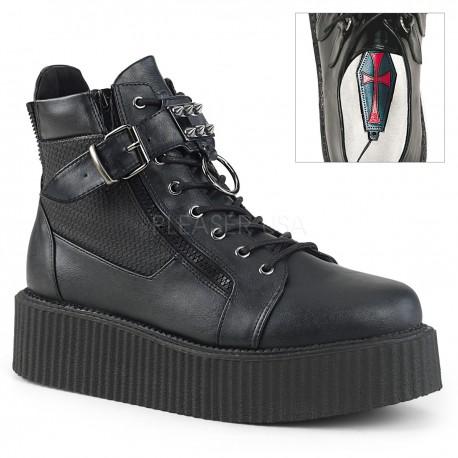 Pantofi V-CREEPER 566 piele stil gotic demonia talpa lata