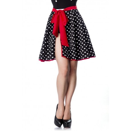 Fusta Rockabilly pin up clos retro neagra