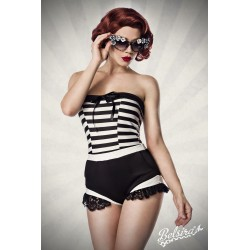 Body Rockabilly pin up retro albastru marinar