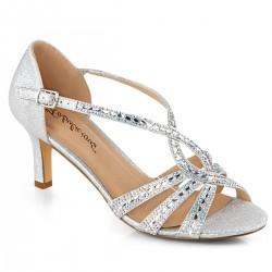 Sandale de mireasa de nunta cu toc mic marimea 42 comode MISSY 03