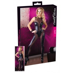 Bodystocking salopeta wetlook aspect ud plasa lenjerie erotica