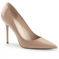 Pantofi office stiletto marimi mari nude CLASSIQUE 20