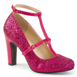 Pantofi cu toc gros comozi roz mary jane marimi mari marimea 43 QUEEN 01
