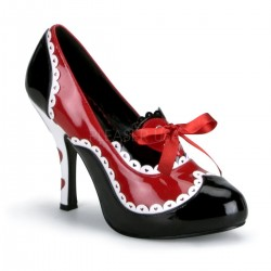 Pantofi cu toc gros comozi halloween mary jane marimi mari marimea 43 QUEEN 02