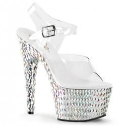 Sandale de mireasa de nunta papuci cu toc inalt BEJEWELED 708 DS