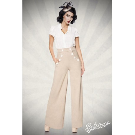 Pantaloni Marlene vintage retro pin up largi