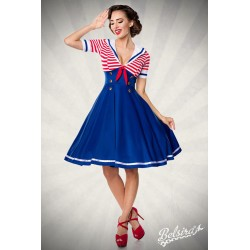 Rochie Sailor marinar vintage pin up, retro recuzita teatru