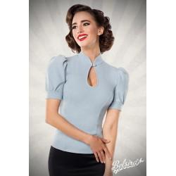 Bluza Jersey retro pinup rockabilly vintage bleu