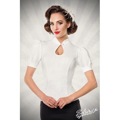 Bluza Jersey retro pinup rockabilly vintage alb