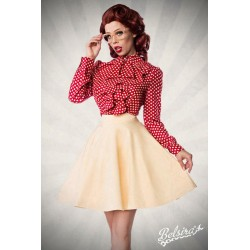 Fusta Clos larga pin up retro rockabilly cu buline