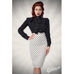 Fusta Creion Office pin up retro rockabilly cu buline