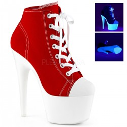 Pantofi adidas alb neon papuci toc inalt animatoare ADORE 700 SK 02
