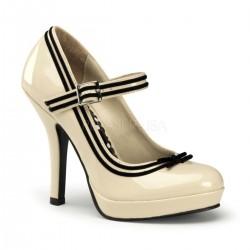 Pantofi pin up rockabilly retro toc mediu rosii SECRET 15