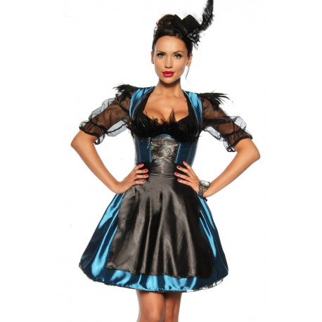 Costum oktoberfest berar festivalul berii sort satin Dirndl 2596