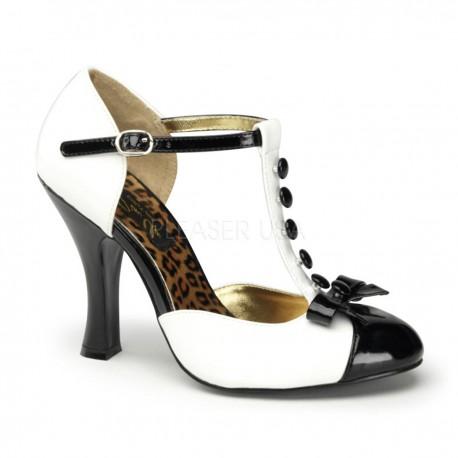 Pantofi pin up retro rockabilly toc mediu pleaser SMITTEN 10