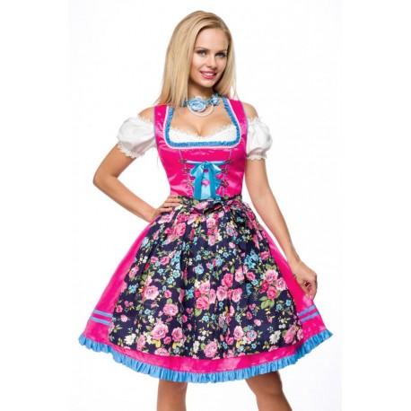 Rochie Oktoberfest berar festivalul berii balul vanatorilor dirndl 0045 carouri