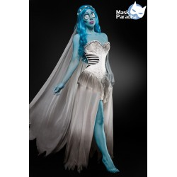 Costum Mireasa Cadavru rochie halloween accesorii teatru 0004