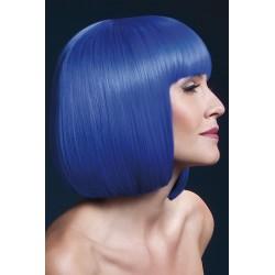 Peruca par cu breton par mediu culoare albastru neon ELISE