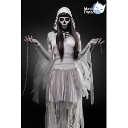 Costum Fantoma Schelet rochie halloween horror recuzita teatru 0011