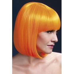 Peruca par cu breton par mediu culoare portocaliu neon ELISE