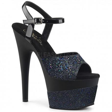 Sandale cu toc inalt papuci dans la bara ADORE 709 2 G Negru