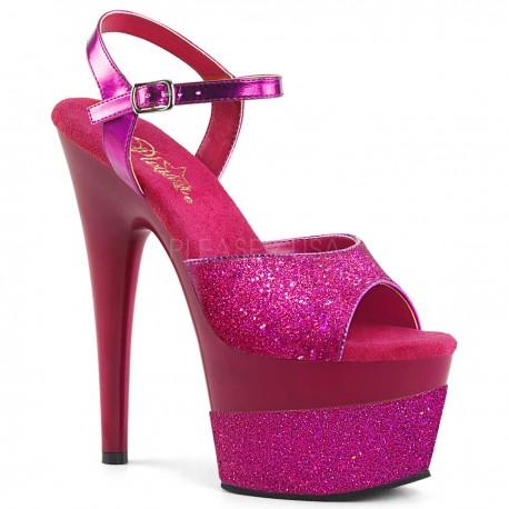 Sandale cu toc inalt papuci dans la bara ADORE 709 2 G Fucsia