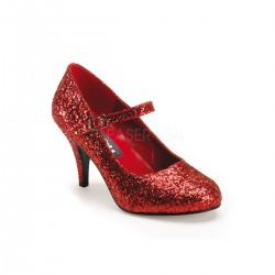 Pantofi rosii toc mic teatru GLINDA 50 G
