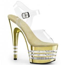 Sandale cu toc inalt papuci dansatoare ADORE 708 CHLN