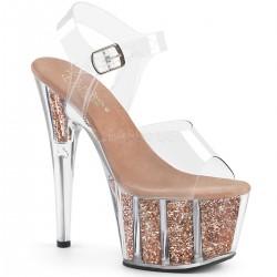 Sandale cu platforma piele dansatoare dans la bara ADORE 708 G