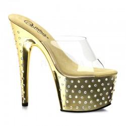 Sandale cu toc inalt papuci dansatoare STARDUST 701