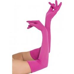 Manusi lungi roz accesorii teatru recuzita