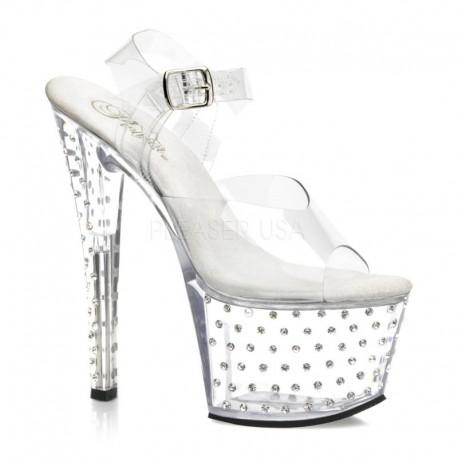 Sandale cu platforma transparenta papuci sexy club STARDUST 708