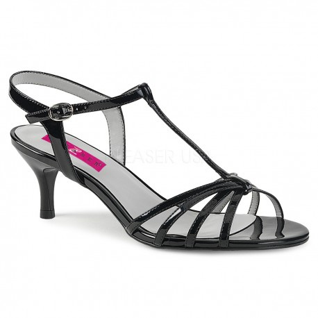 Sandale cu toc mic comode marimi mari marimea 45 KITTEN 06