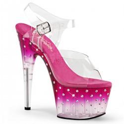 Sandale cu toc inalt piele papuci dans la bara STARDUST 708 T
