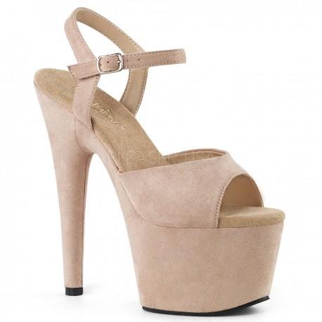 Sandale cu toc inalt piele intoarsa dansatoare ADORE 709 FS