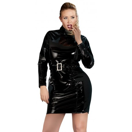 rochie Vinil latex lenjerie erotica wetlook sexy club marimi mari xxl