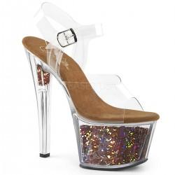Sandale cu platforma transparenta papuci dans la bara SKY 308 GF
