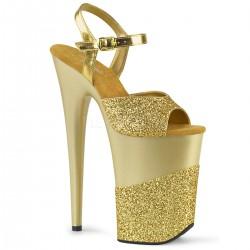 Sandale cu toc inalt papuci dans la bara FLAMINGO 809 2 G Negru
