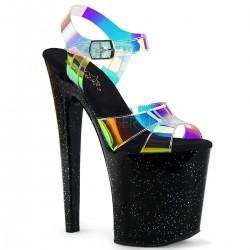 sandale cu toc inalt papuci animatoare sexy club toc de 20 cm marimi mari XTREME 820 MMR